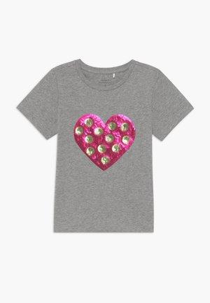 NKFDITTA - Print T-shirt - grey melange