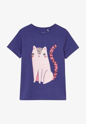 NKFDIVI  - Print T-shirt - navy blue