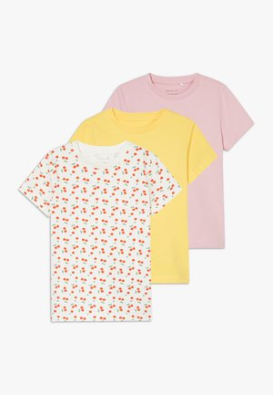 NBFDENKA 3 PACK - Print T-shirt - pink nectar