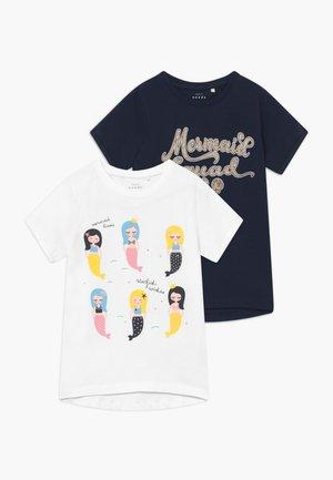 NMFVIX 2 PACK - T-shirt med print - dark sapphire