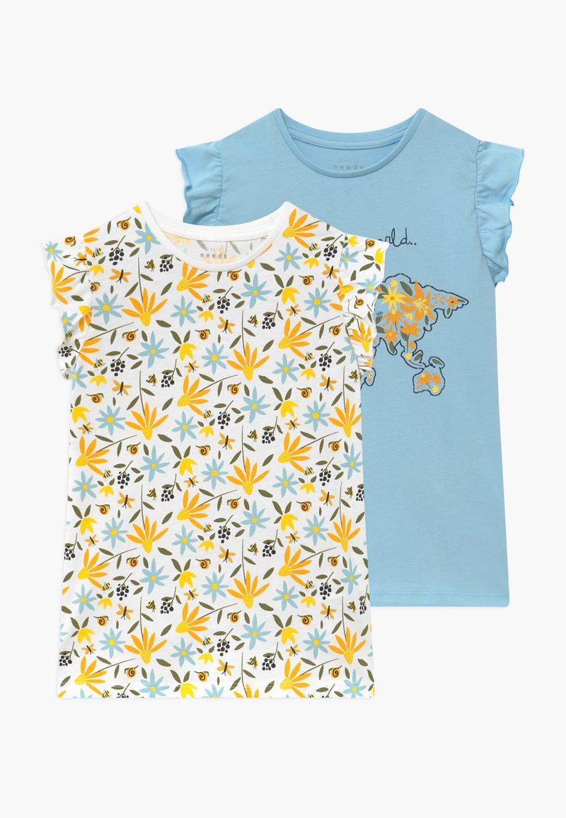 Name it - NMFVATINE 2 PACK  - T-shirt med print - bright white