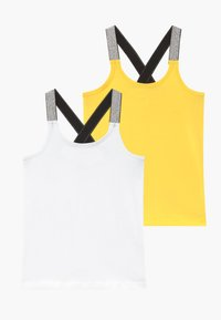 Name it - NKFVALS RACER TANK 2 PACK - Top - bright white - 0