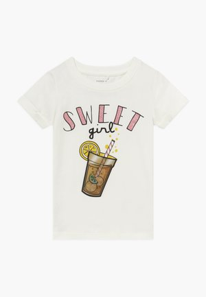 NMFFADINA BOX - T-shirt imprimé - snow white