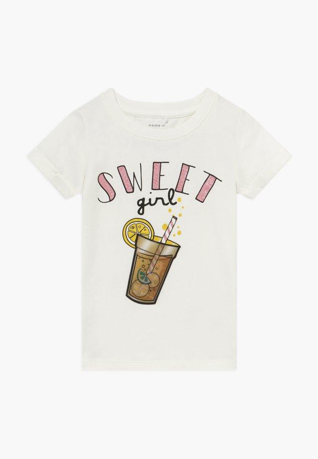NMFFADINA BOX - T-Shirt print - snow white