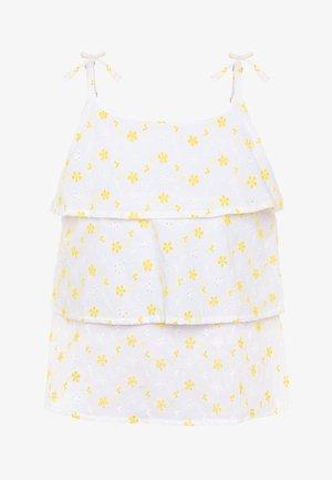 NKFFREJA STRAP  - Bluse - bright white
