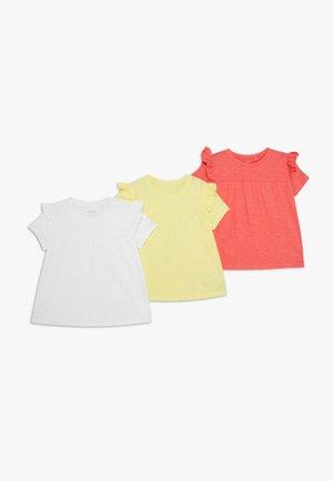NMFVAVINA 3 PACK  - T-shirt print - bright white