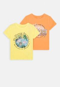 Name it - NKFVIX 2 PACK - Print T-shirt - canteloupe - 0