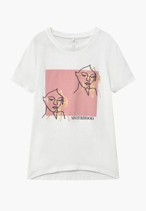 NKFLAICA  - T-shirts print - bright white