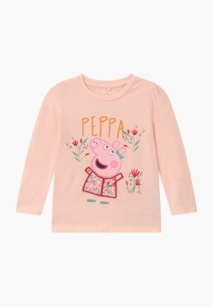 NMFPEPPAPIG ALLY  - Langærmede T-shirts - pearl