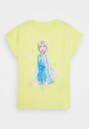 NKMFROZEN TEA - T-shirt print - limelight
