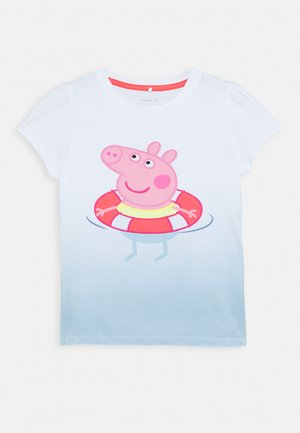 NMFPEPPAPIG SESSA BOX  - T-shirts med print - dream blue/calypso coral