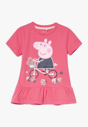 NMFPEPPAPIG TONJE PEP - T-shirts med print - calypso coral