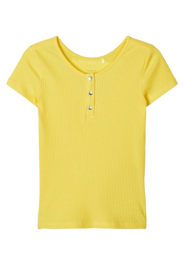 T-SHIRT SLIM FIT RIPPDESIGN - T-shirt print - aspen gold