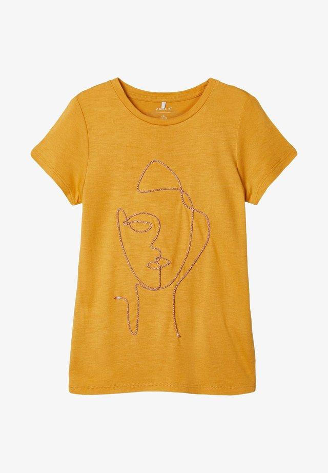 T-shirt print - amber gold