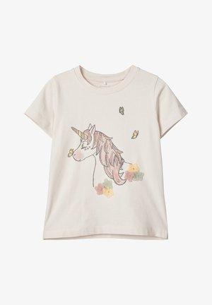 Print T-shirt - lilac ash