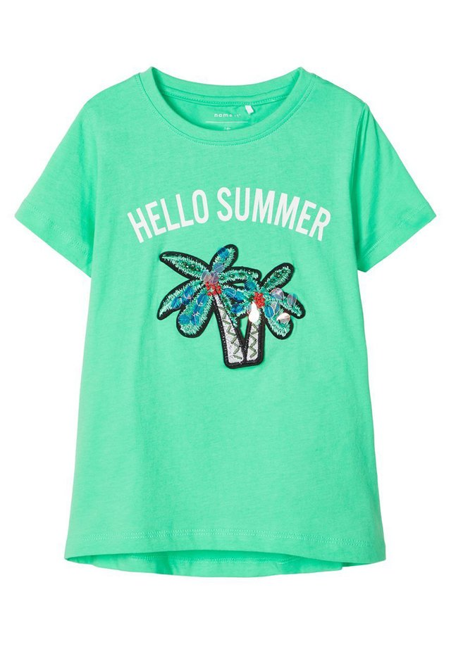 PALMEN - T-Shirt print - spring bud