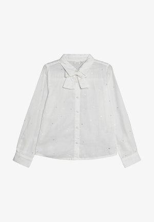 NKFRHONA BLOUSE - Button-down blouse - snow white
