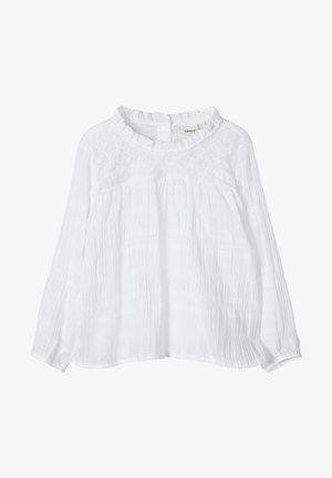 NAME IT BLUSE BAUMWOLLKREPP - Blouse - bright white