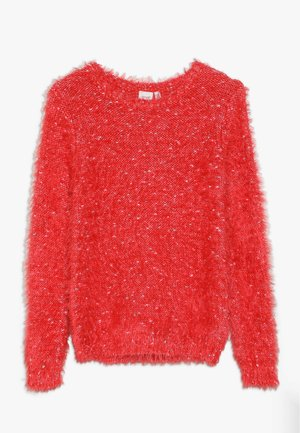 NKFNAILA - Stickad tröja - poppy red