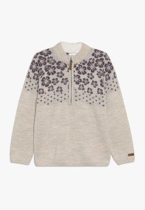 NKFWRISSA  - Stickad tröja - peyote