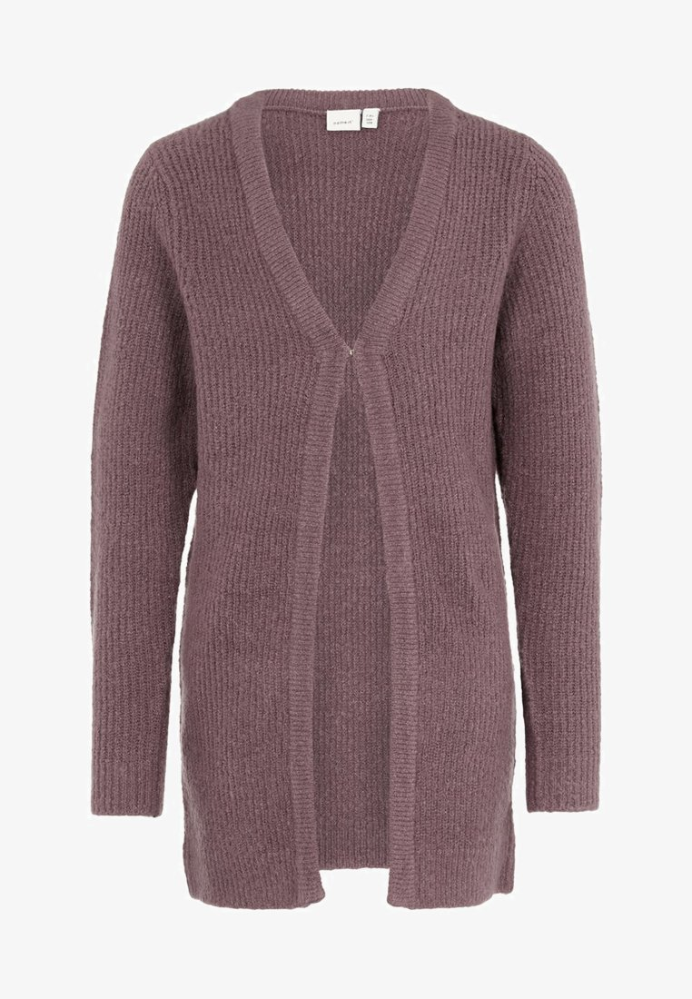 Name it - Strikjakke /Cardigans - black plum