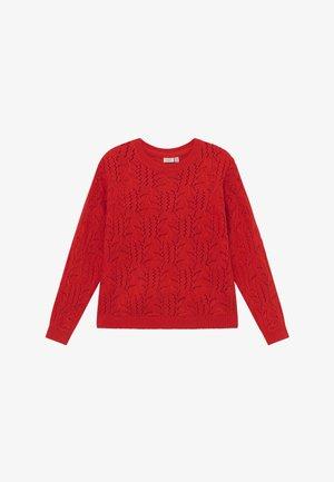 NKFBREVI  - Stickad tröja - high risk red