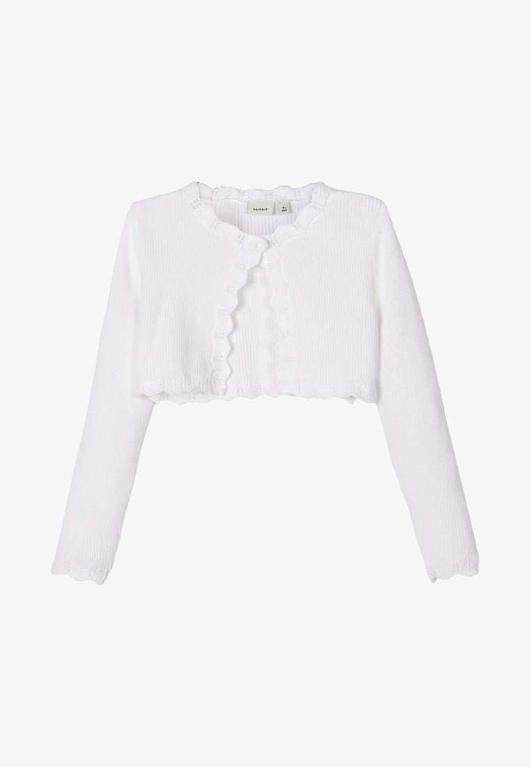 Name it - BOLERO - Chaqueta de punto - bright white