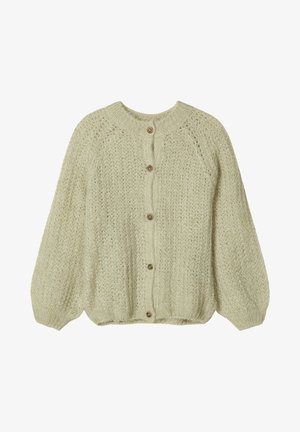 NAME IT STRICKJACKE STRICK - Vest - desert sage