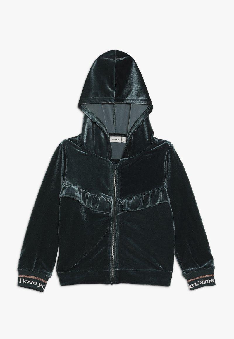 Name it - NMFNILLE HOOD - Zip-up hoodie - green gables
