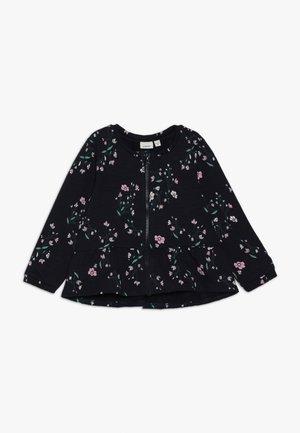 NMFNANNA CARD - veste en sweat zippée - dark sapphire