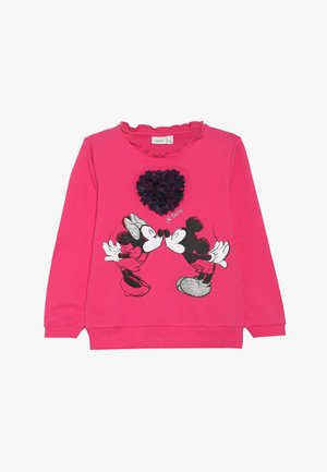 MICKEY MOUSE NMFMINNIE OLIVIA - Mikina - fuchsia purple
