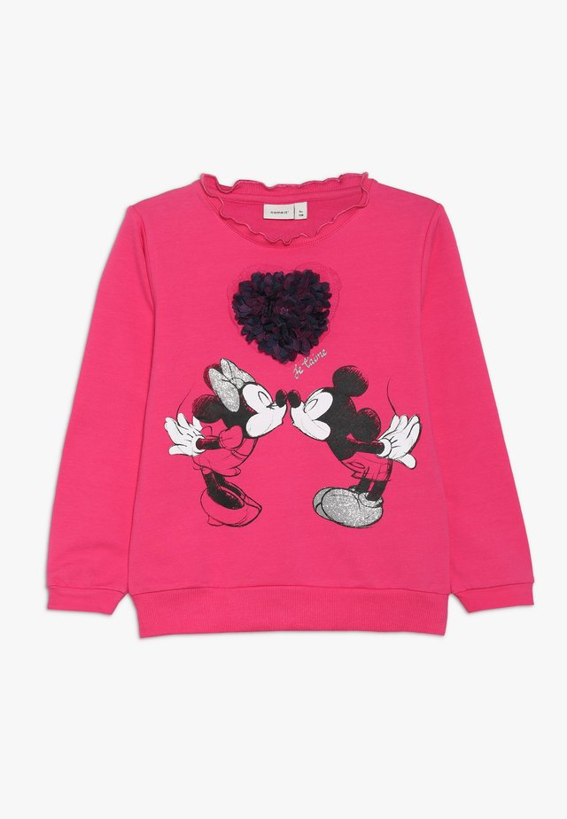 MICKEY MOUSE NMFMINNIE OLIVIA - Sweatshirt - fuchsia purple