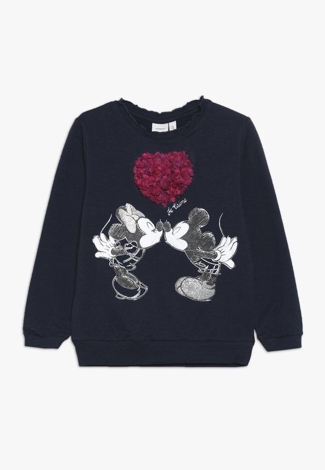 MICKEY MOUSE NMFMINNIE OLIVIA - Sweatshirt - dark sapphire