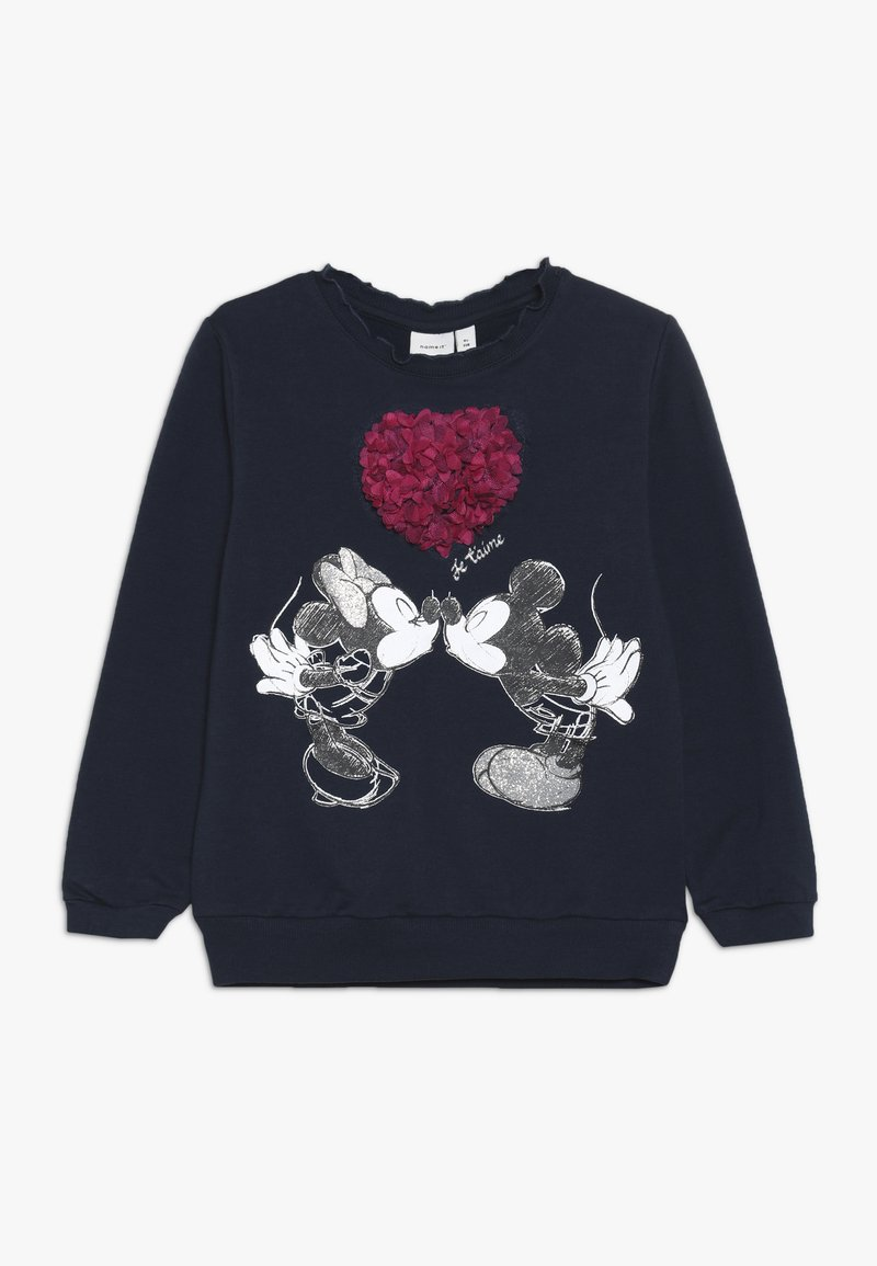 Name it - MICKEY MOUSE NMFMINNIE OLIVIA - Sweatshirt - dark sapphire