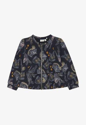 NMFSIGGIE LIGHT CARD  - veste en sweat zippée - dark sapphire