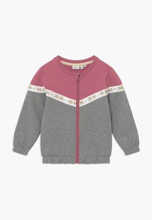 NMFBOSYNNE - Zip-up hoodie - grey melange