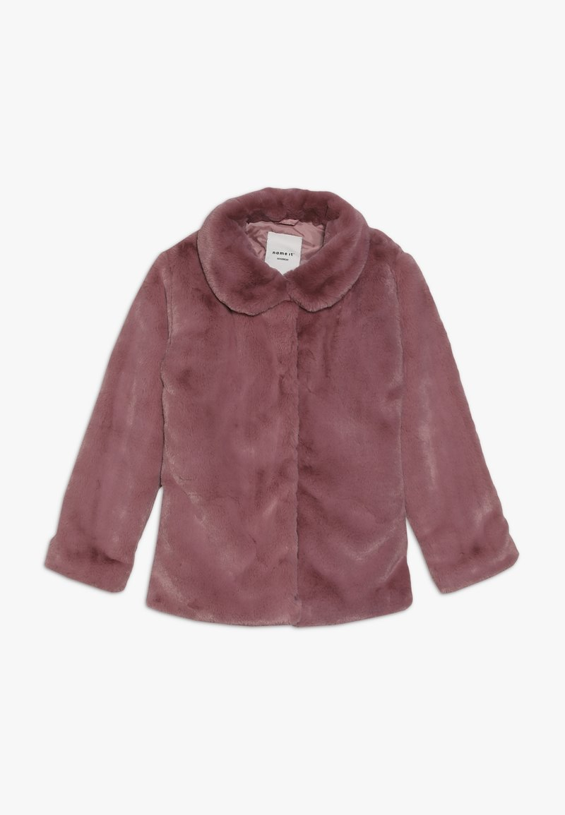 Name it - NKFMONAE FAUX FUR JACKET - Summer jacket - dusty rose