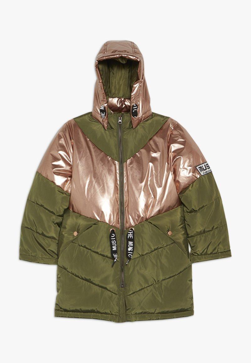 Name it - NKFMUSIC LONG PUFFER JACKET - Winter coat - winter moss