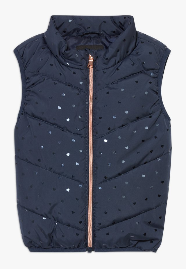NMFMELINA PUFFER VEST - Bodywarmer - dress blues