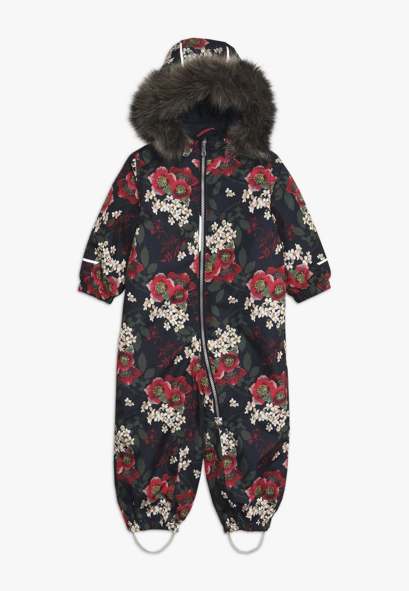 Name it - NMFSNOW08 SUIT BIG FLOWER - Snowsuit - dark sapphire