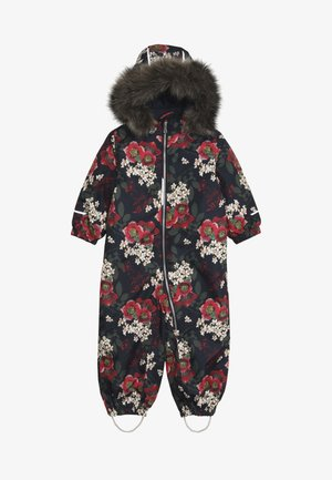 NMFSNOW08 SUIT BIG FLOWER - Snowsuit - dark sapphire