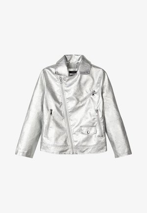 Faux leather jacket - silver