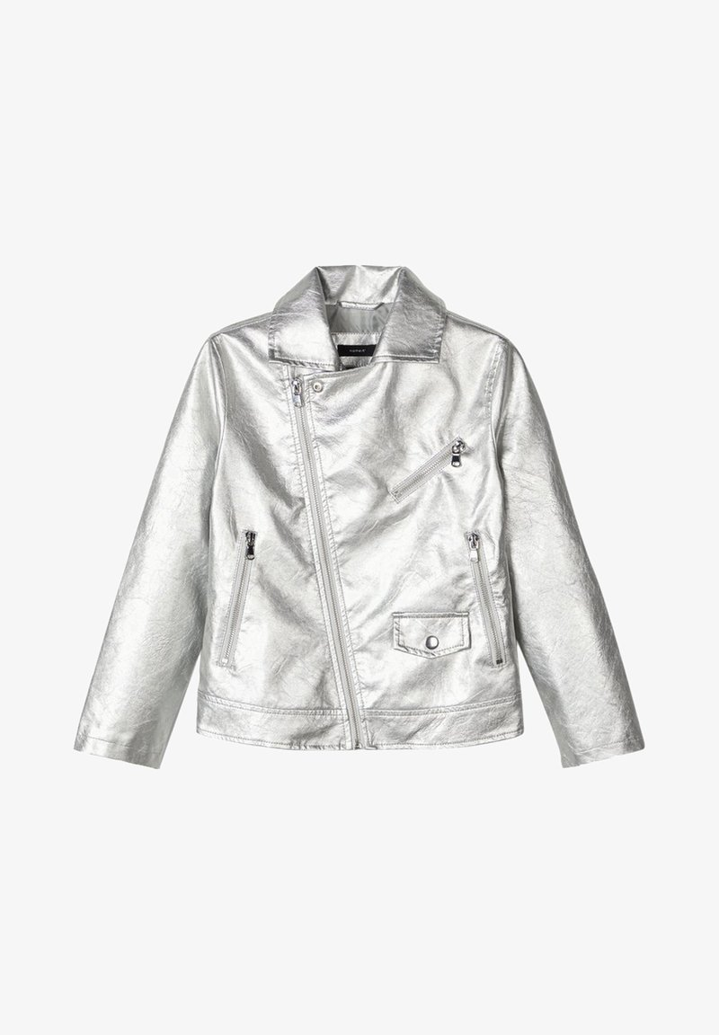 Name it - Faux leather jacket - silver