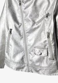 Name it - Faux leather jacket - silver - 2