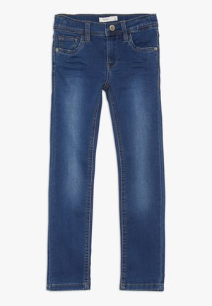 NKMTHEO PANT - Vaqueros slim fit - dark blue denim