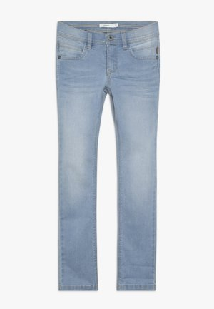 NKMSILAS DNMCARTUS PANT - Straight leg jeans - light blue denim