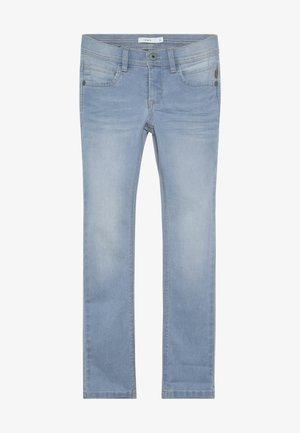 NKMSILAS DNMCARTUS PANT - Jeans straight leg - light blue denim