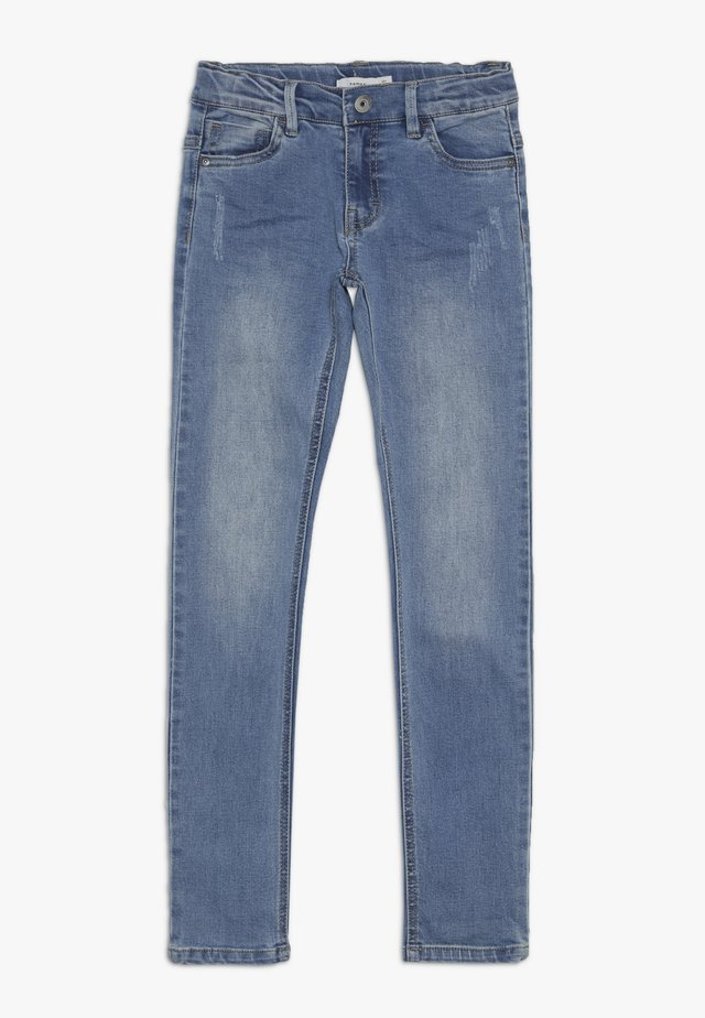 NKMTHEO PANT - Jeans slim fit - light blue denim