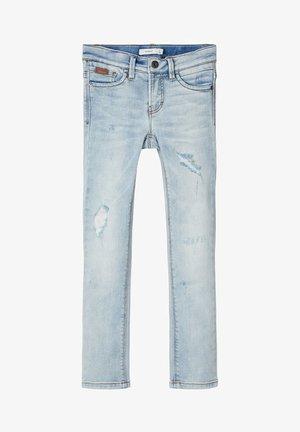 Straight leg jeans - light blue denim
