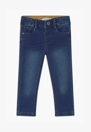 NMMTHEO - Džíny Straight Fit - dark blue denim